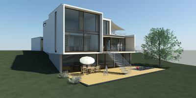 Spahlinger architektur wohnhaus am see - Architektur ansicht ...